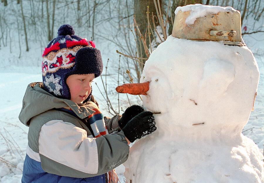 Lager snømann