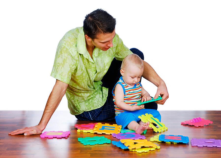 Lek med små barn
